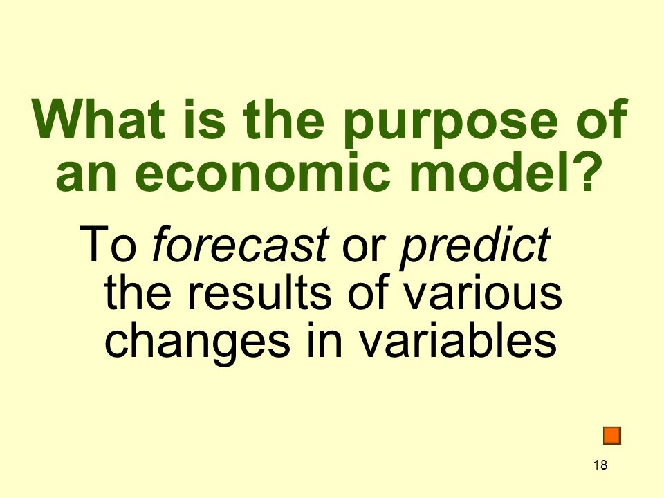 What is the purpose of an economic model