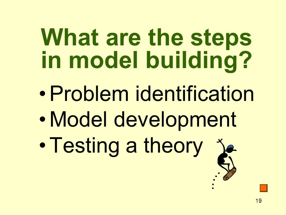 What are the steps in model building