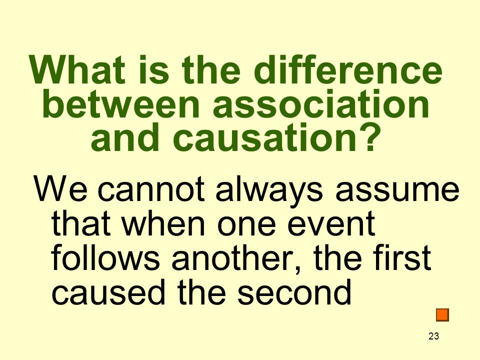 What is the difference between association and causation