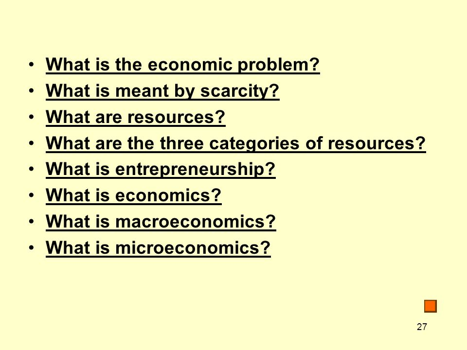 What is the economic problem