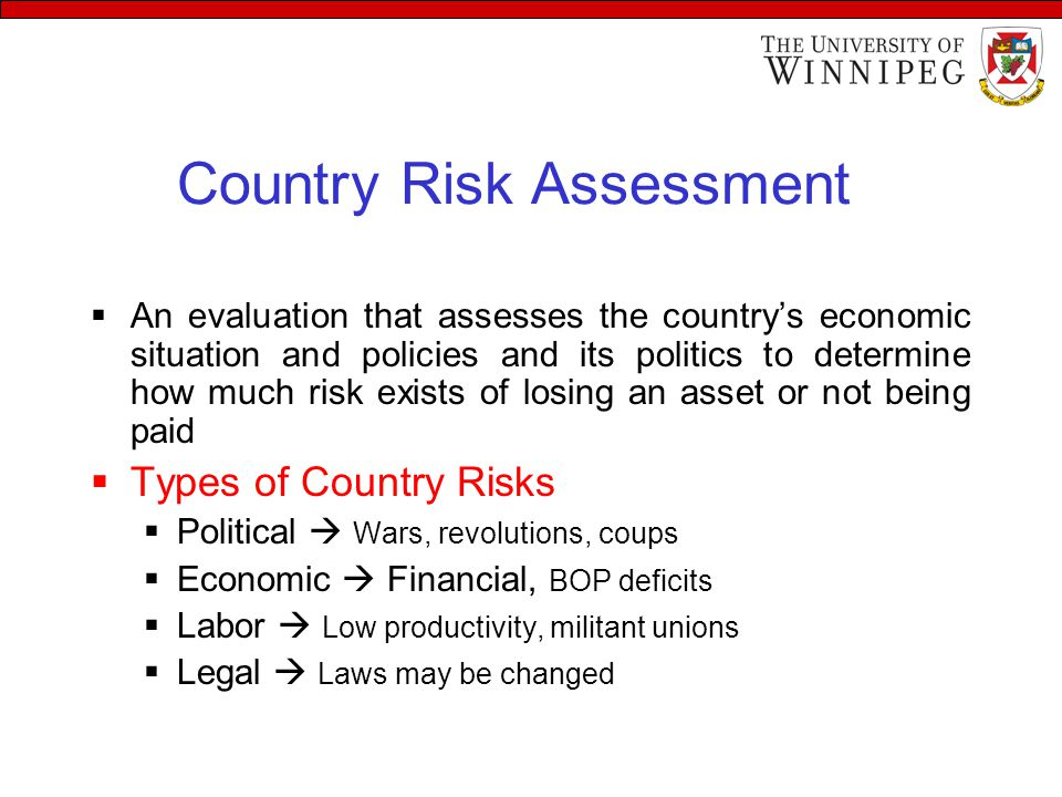 types of country risk analysis