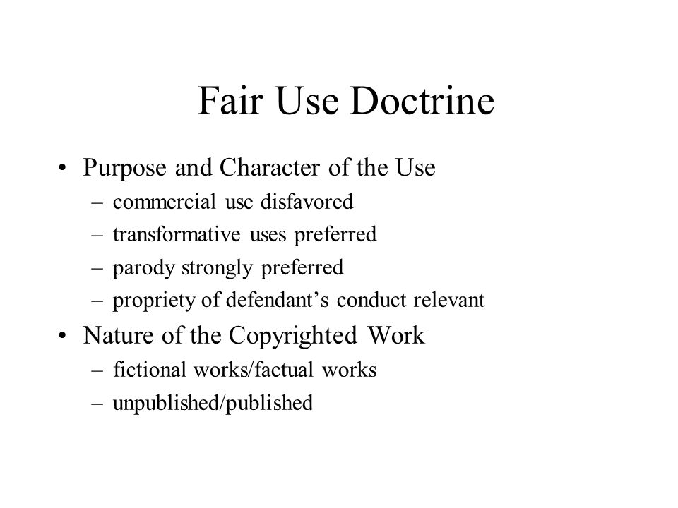 What Is The Nature Of A Parody Fair Use