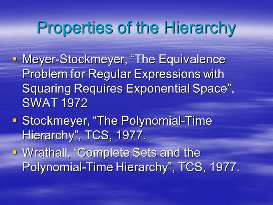 Beyond NP: The Work and Legacy of Larry Stockmeyer - ppt