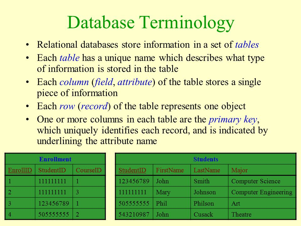 A Brief Introduction To Relational Databases Ppt Video Online Download