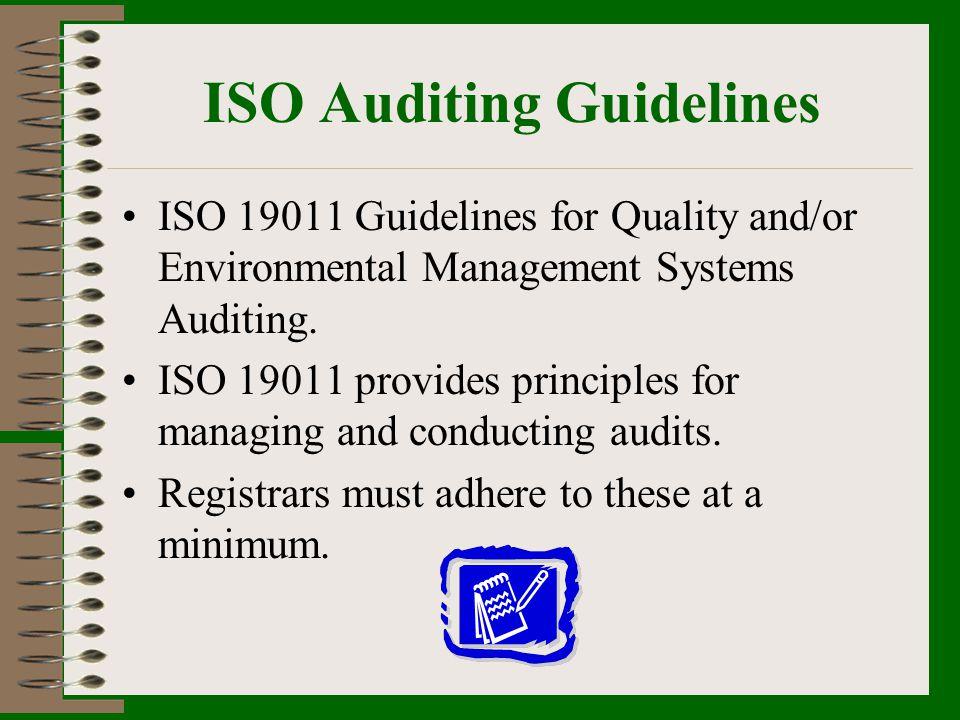 ISO Auditing Guidelines