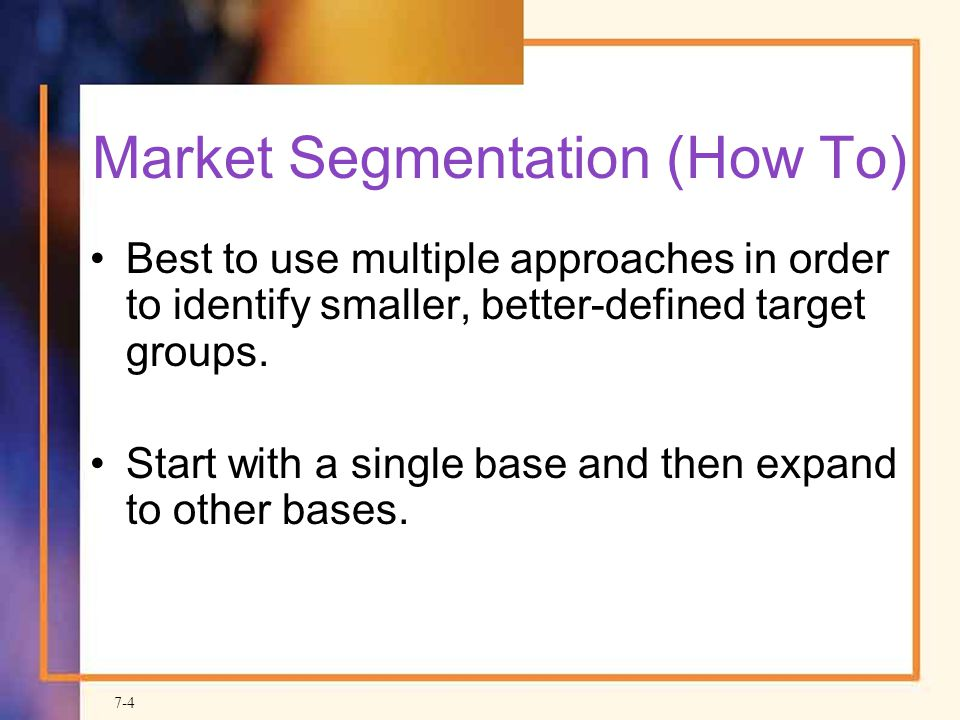 Market Segmentation (How To)