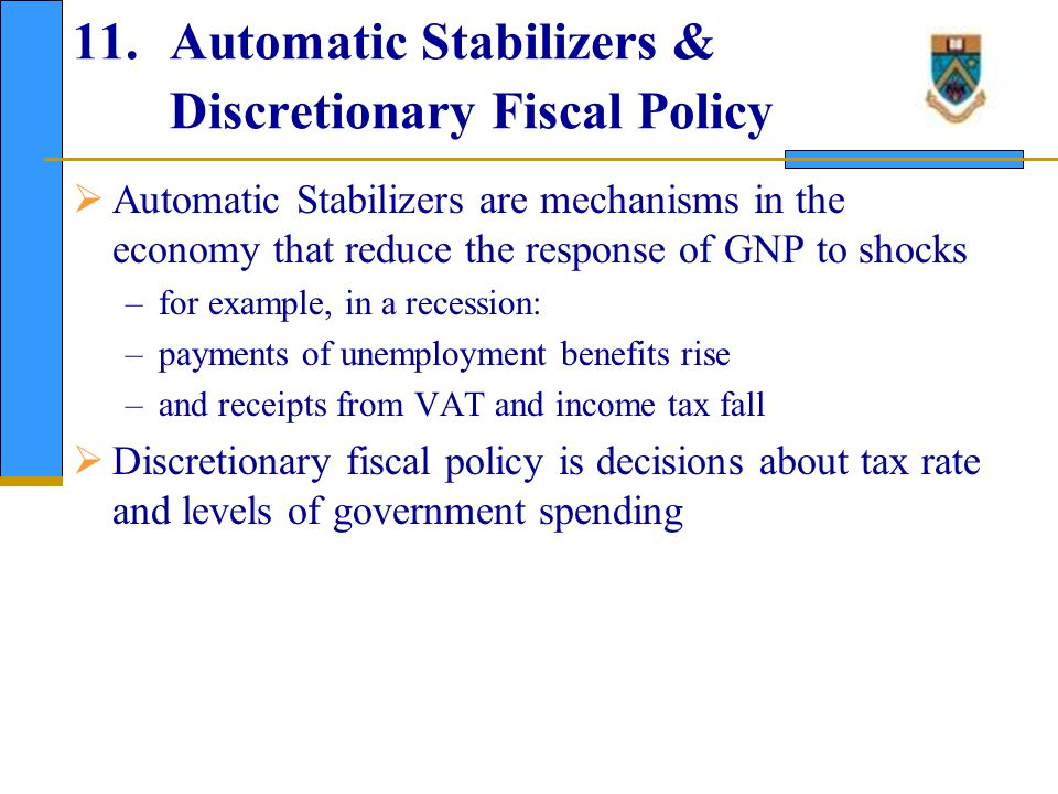 12. Limits on Active Fiscal Policy