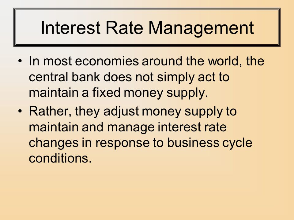 Interest Rate Management