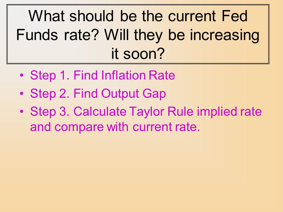 What should be the current Fed Funds rate