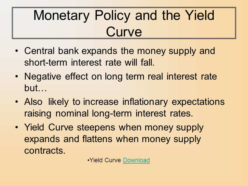 Monetary Policy and the Yield Curve