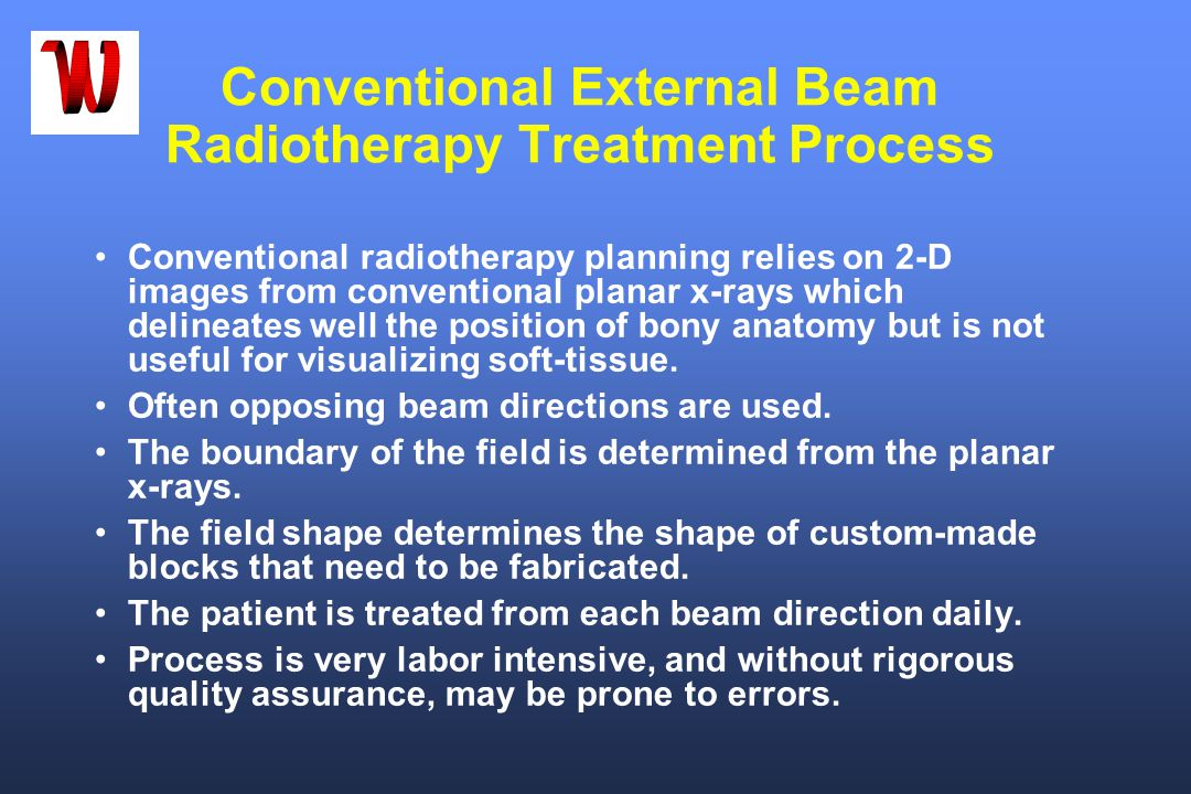 Conventional External Beam Radiotherapy Treatment Process