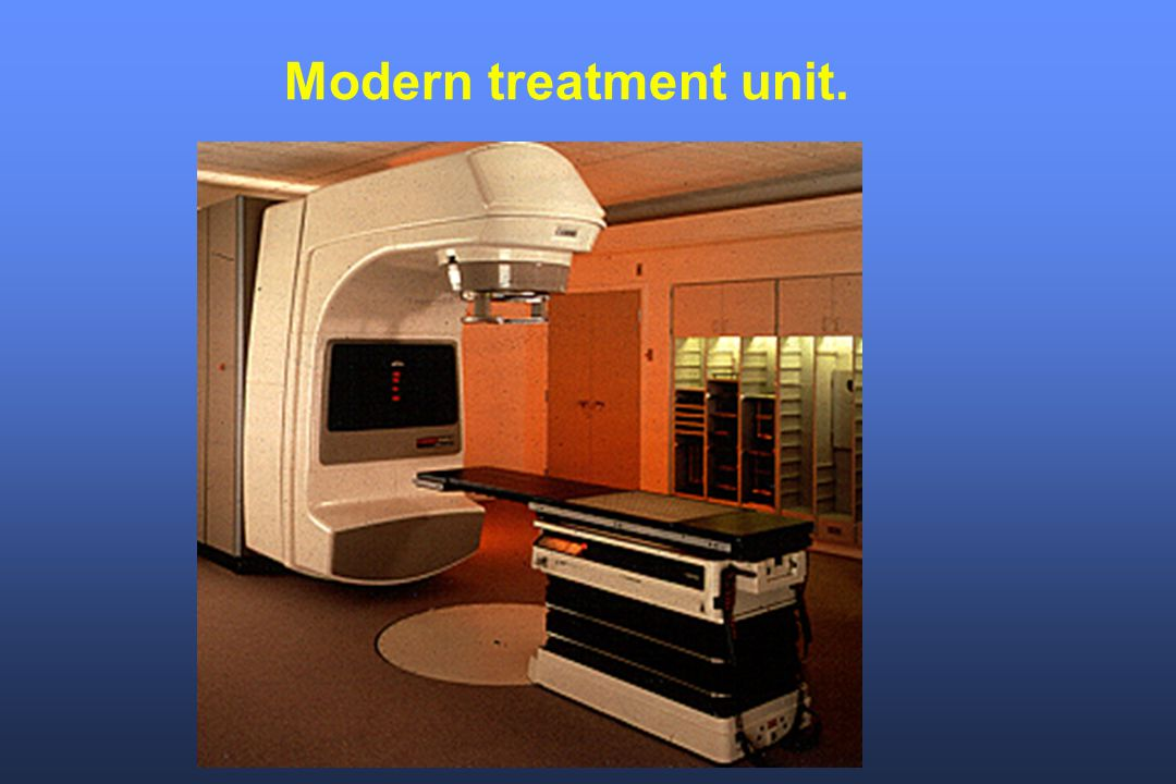 Modern treatment unit.