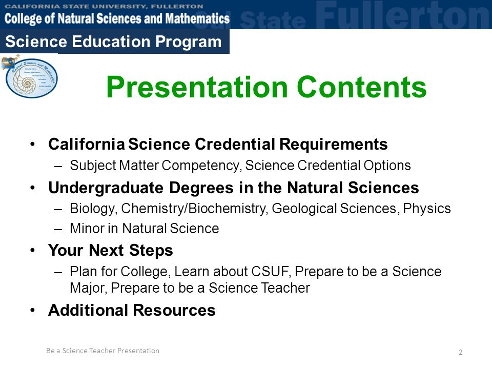 becoming a science teacher: majoring in the natural sciences - ppt