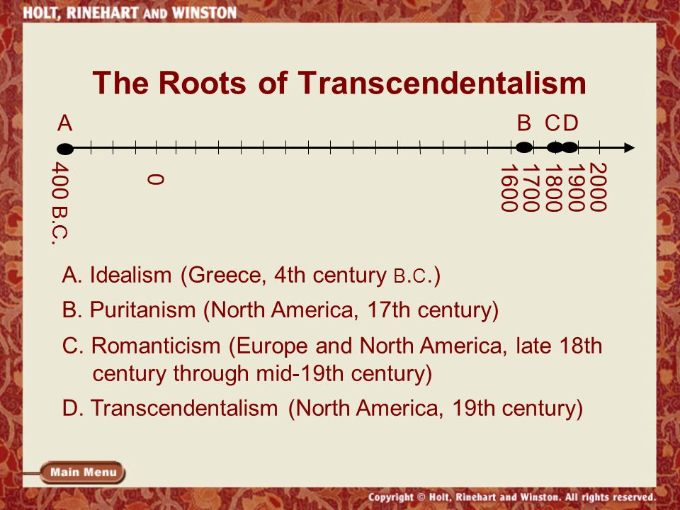 The Roots of Transcendentalism