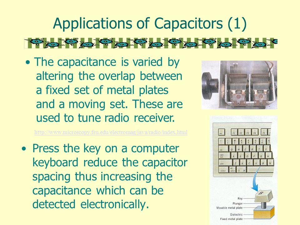 Capacitors A Capacitor Is A Device For Storing Charge And Electrical