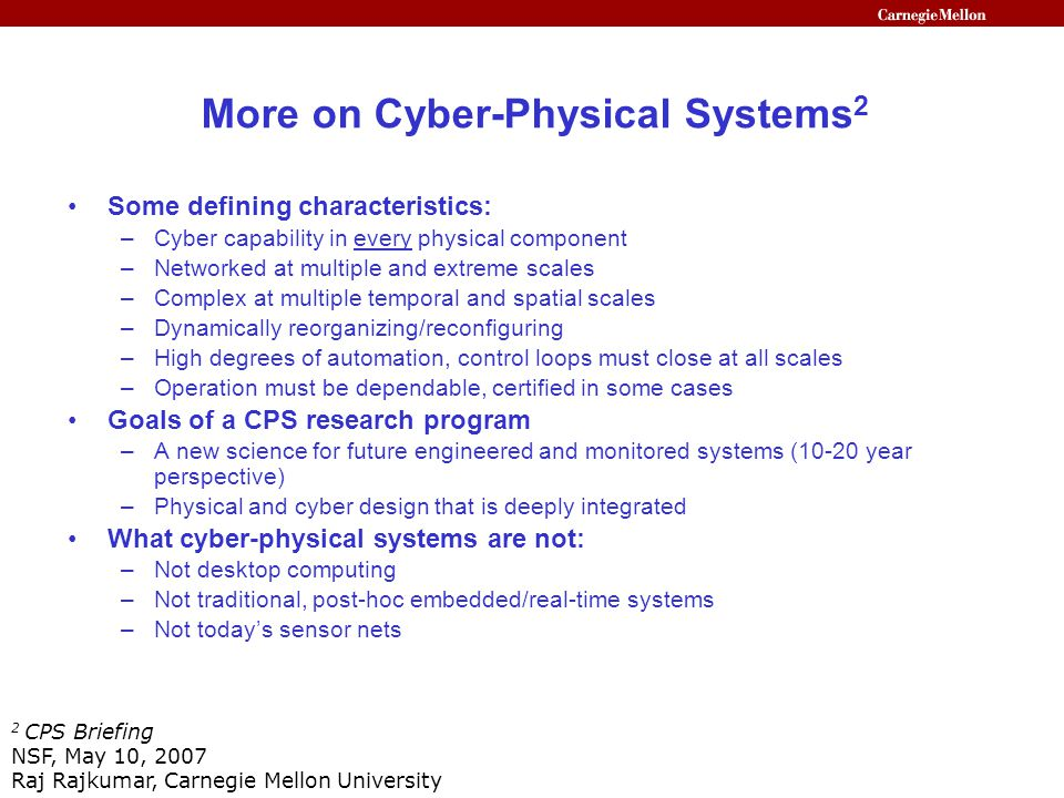 Cyber Physical Systems The Need For New Models And Design Paradigms Ppt Video Online Download