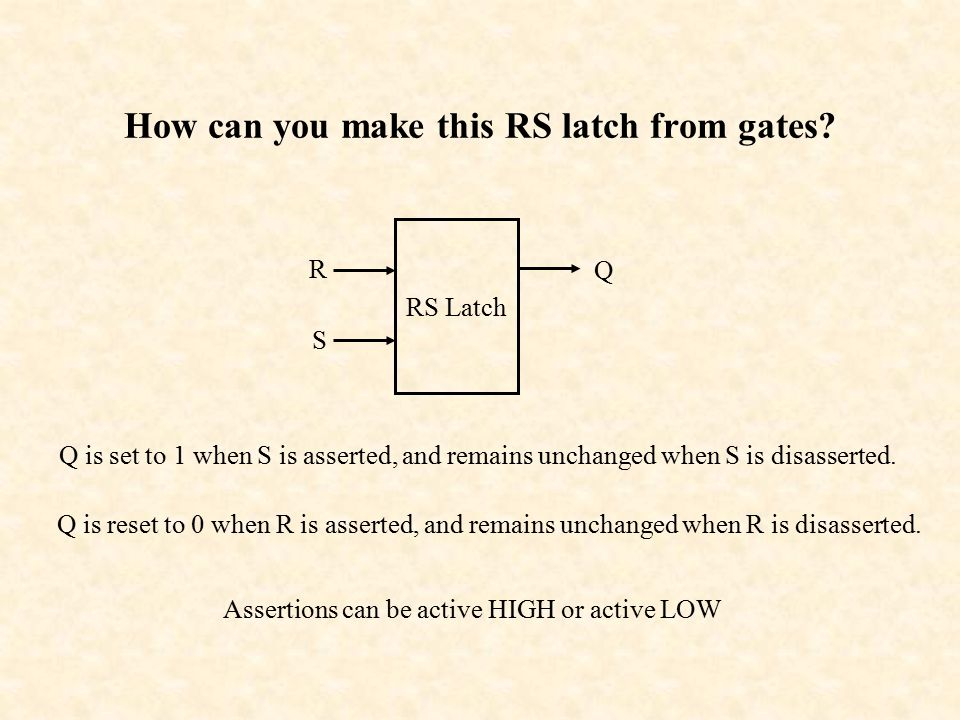 How can you make this RS latch from gates