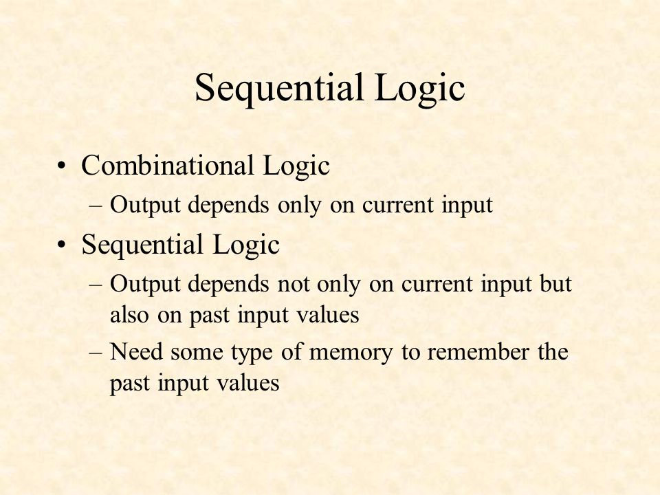 Sequential Logic Combinational Logic Sequential Logic