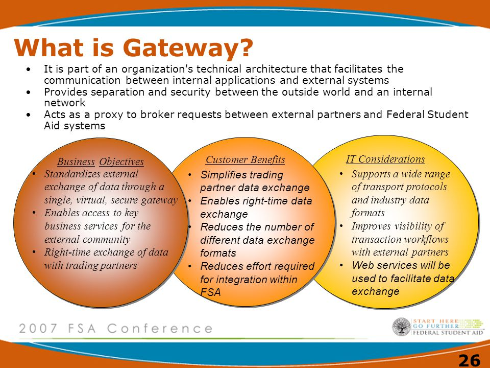 What is Gateway Business Objectives Customer Benefits