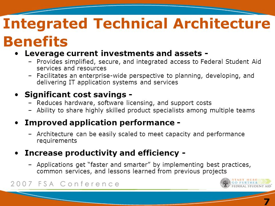 Integrated Technical Architecture Benefits