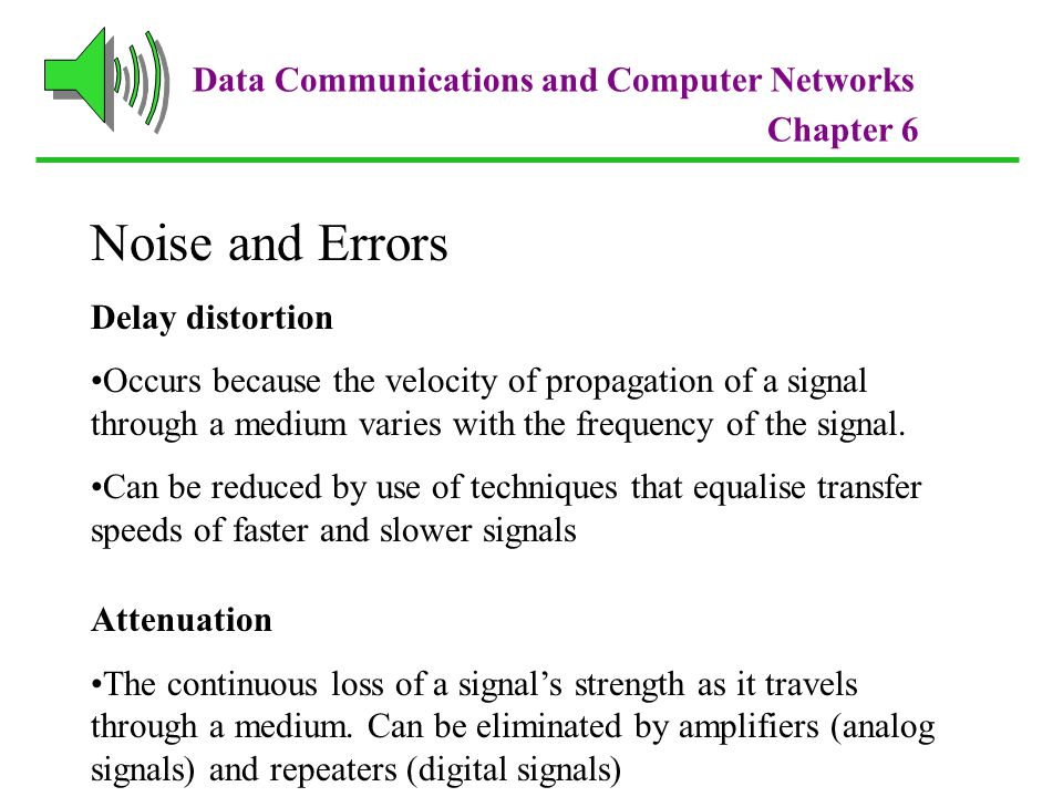 Noise and Errors Data Communications and Computer Networks