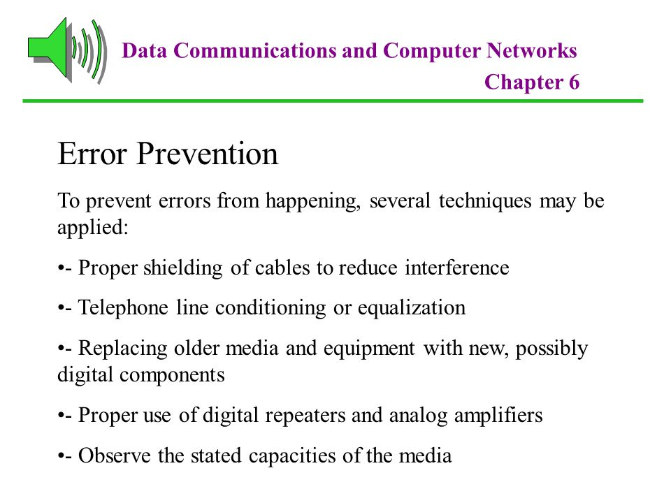 Error Prevention Data Communications and Computer Networks
