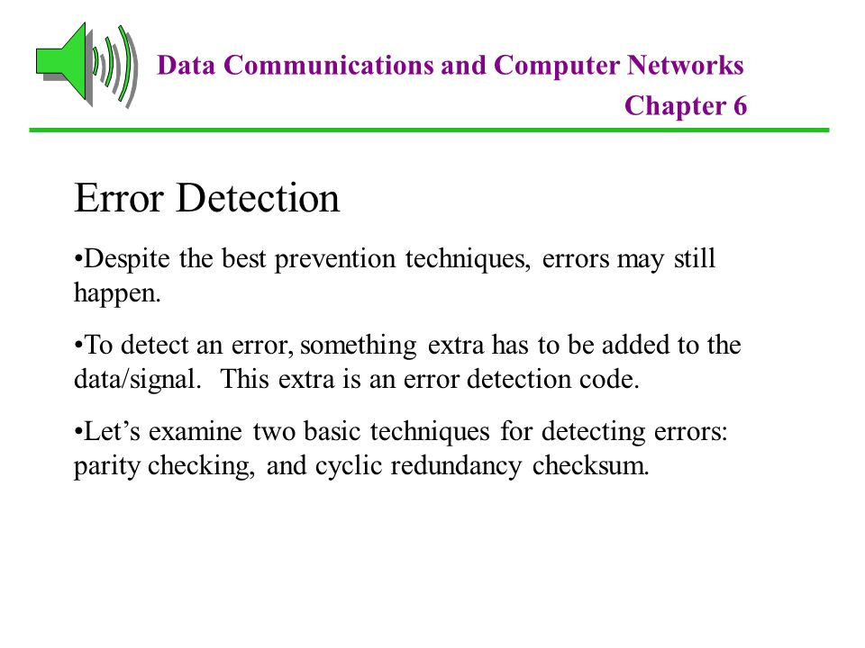 Error Detection Data Communications and Computer Networks