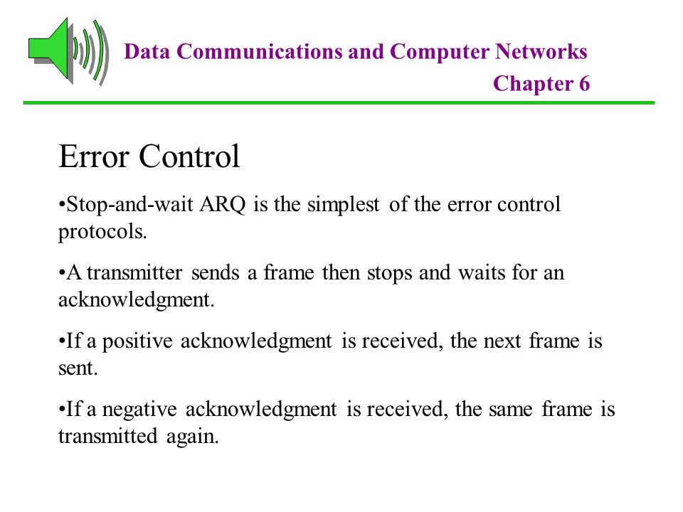 Error Control Data Communications and Computer Networks