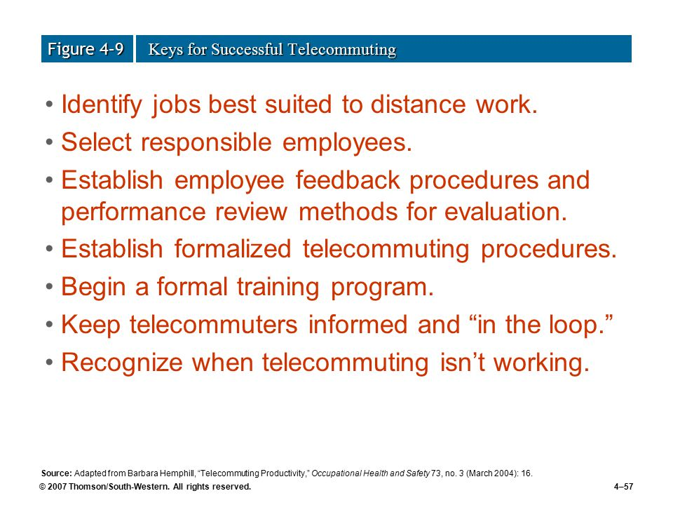 an analysis of telecommuting Proceedings of the 29th annual hawaii international conference on system sciences - 1996 analysis of a telecommuting experience: a case study.