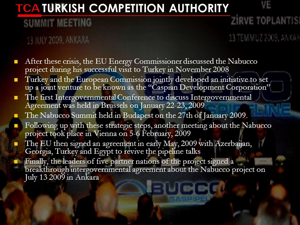 TCA TURKISH COMPETITION AUTHORITY