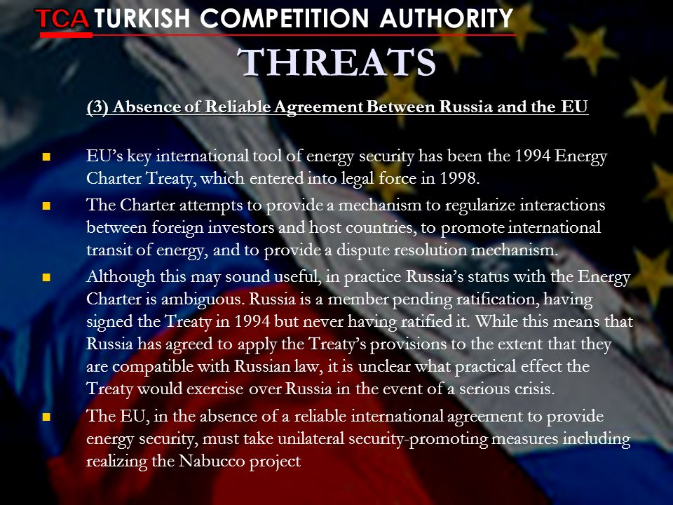 (3) Absence of Reliable Agreement Between Russia and the EU