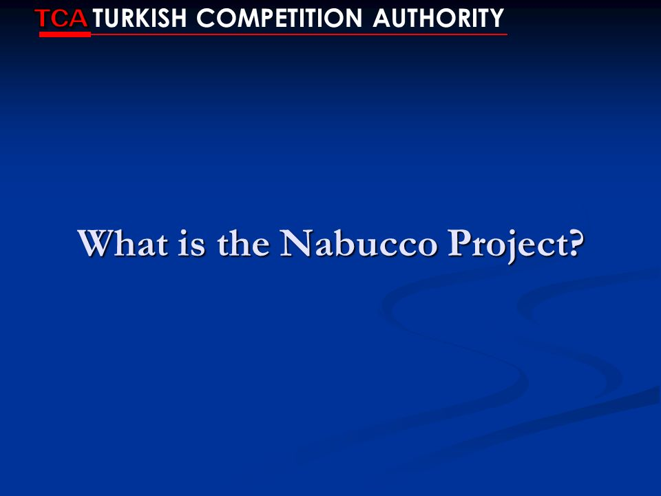 What is the Nabucco Project