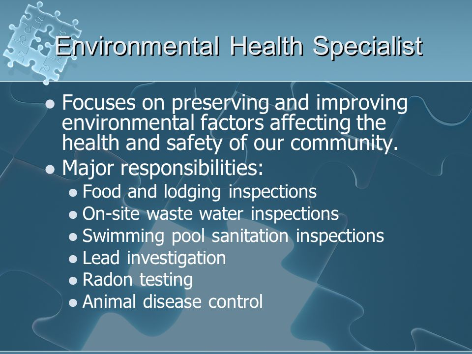 Environmental Health Specialist
