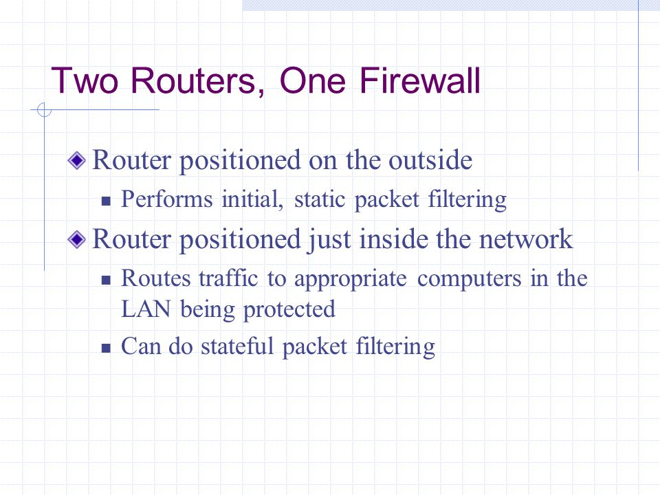 Two Routers, One Firewall