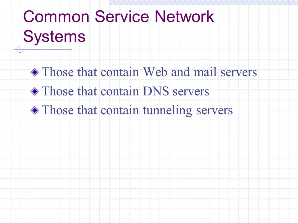 Common Service Network Systems