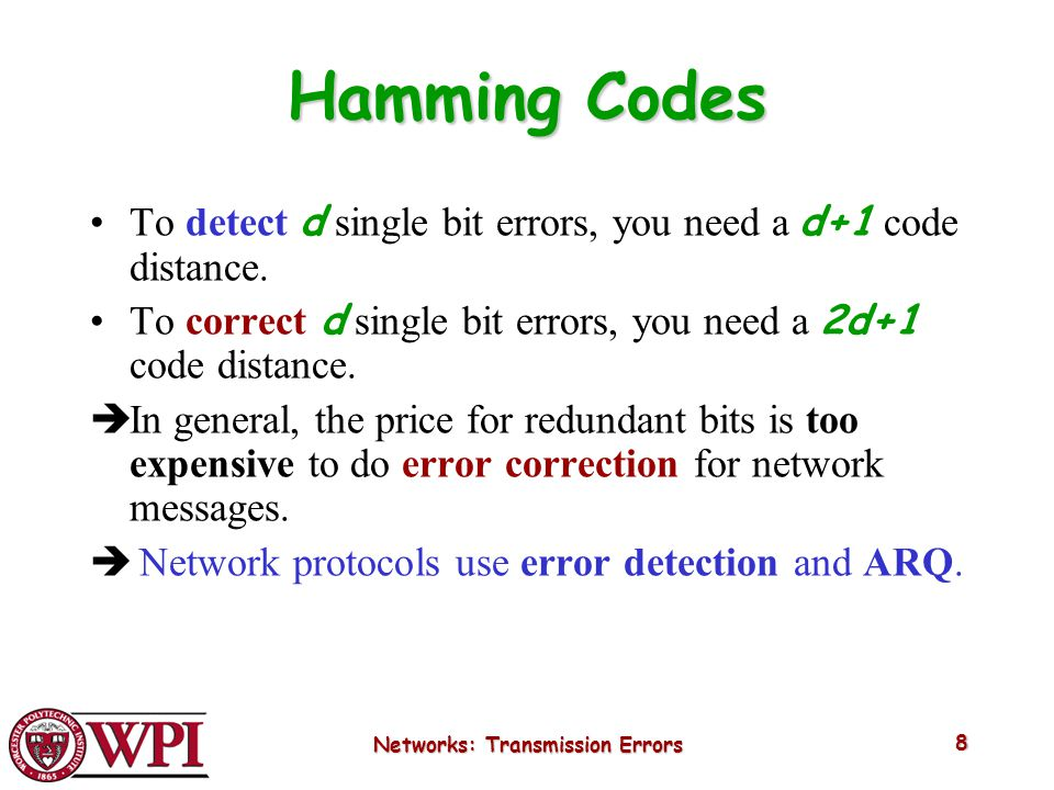 Networks: Transmission Errors