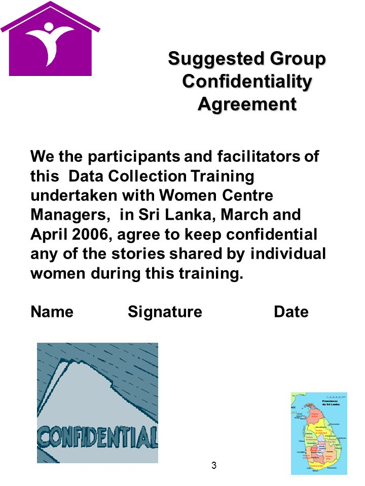 Suggested Group Confidentiality