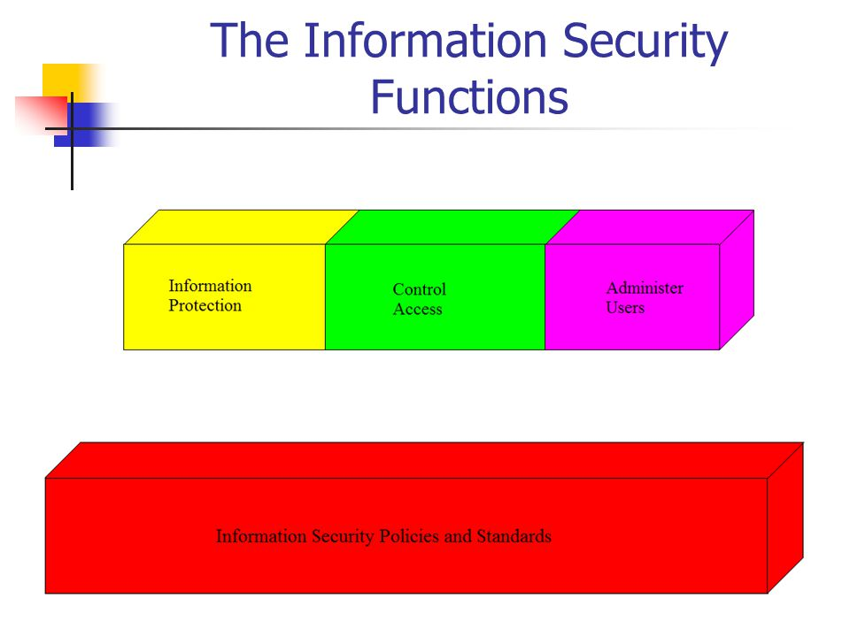 The Information Security Functions