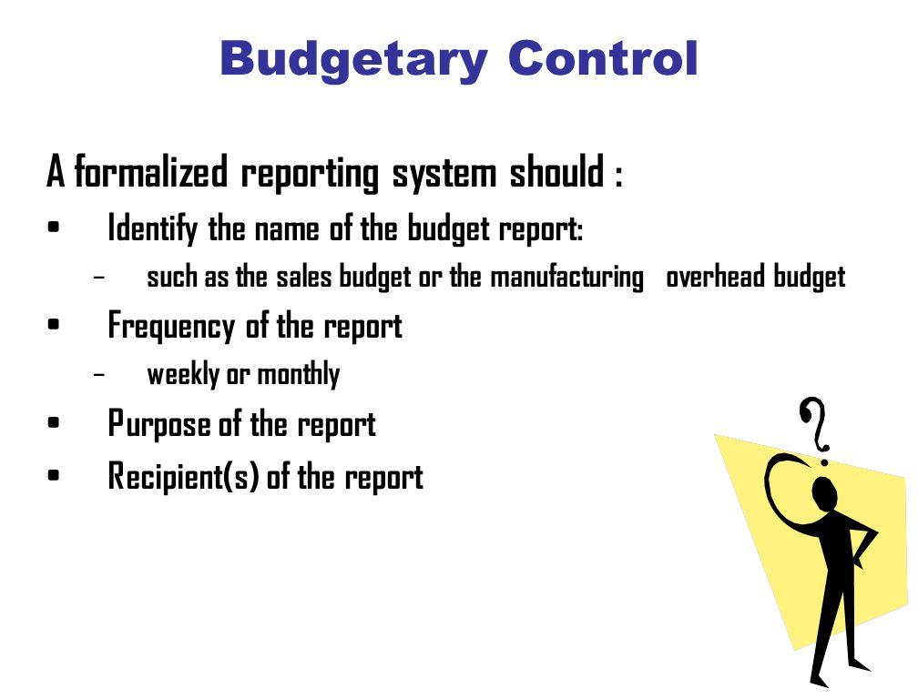 purpose of budgetary control
