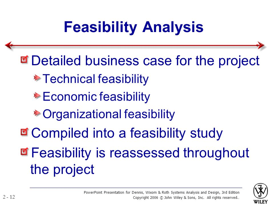 Feasibility Analysis Detailed business case for the project