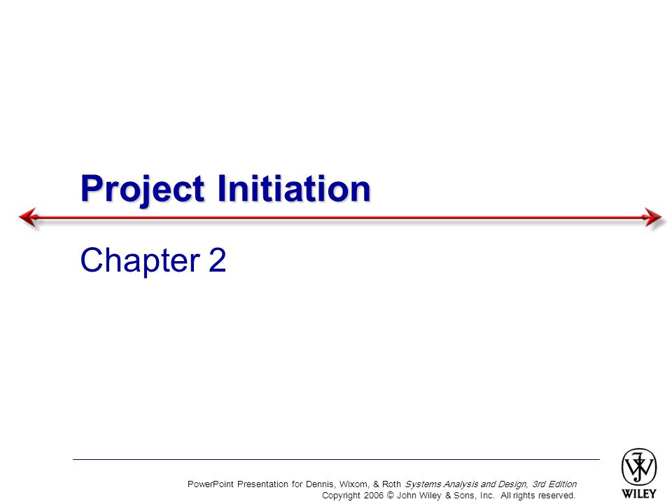 Project Initiation Chapter 2