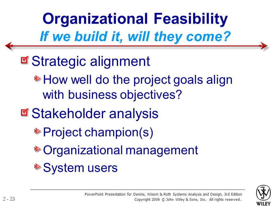 Organizational Feasibility If we build it, will they come