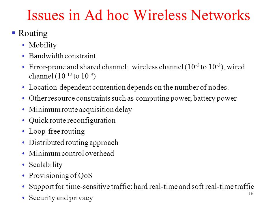 Chapter 5: Ad Hoc Wireless Networks - ppt video online download