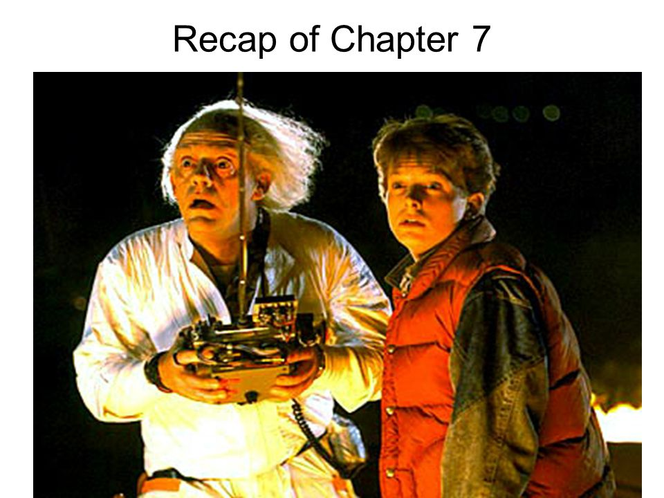 Recap of Chapter 7