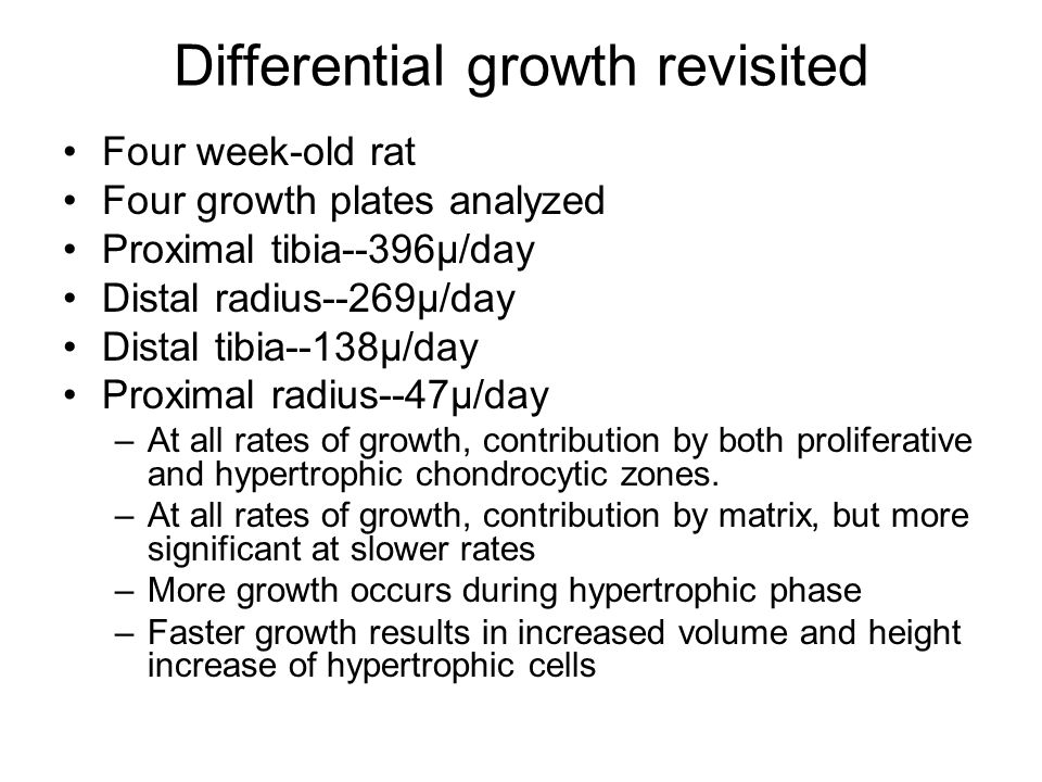 Differential growth revisited