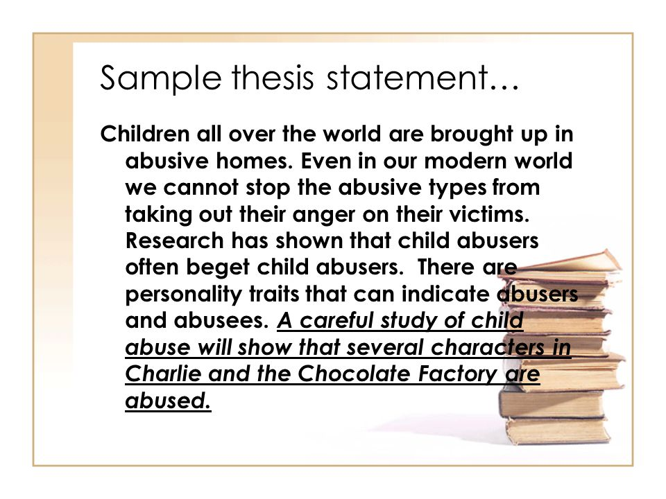 Examples of thesis statements child abuse short creative writing examples