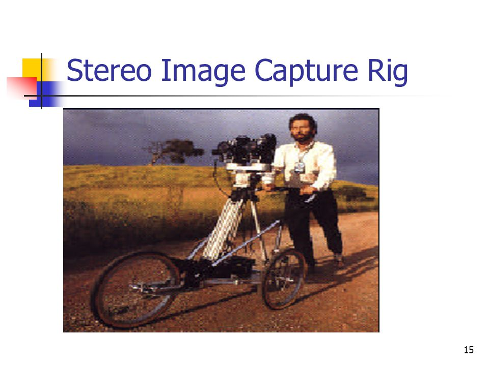 Stereo Image Capture Rig