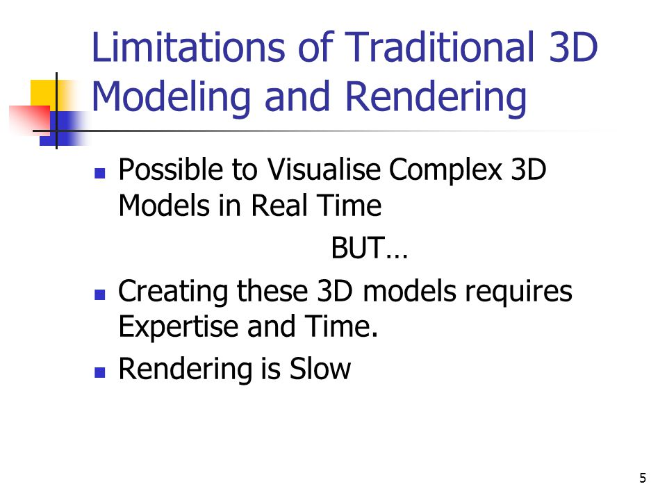 Limitations of Traditional 3D Modeling and Rendering