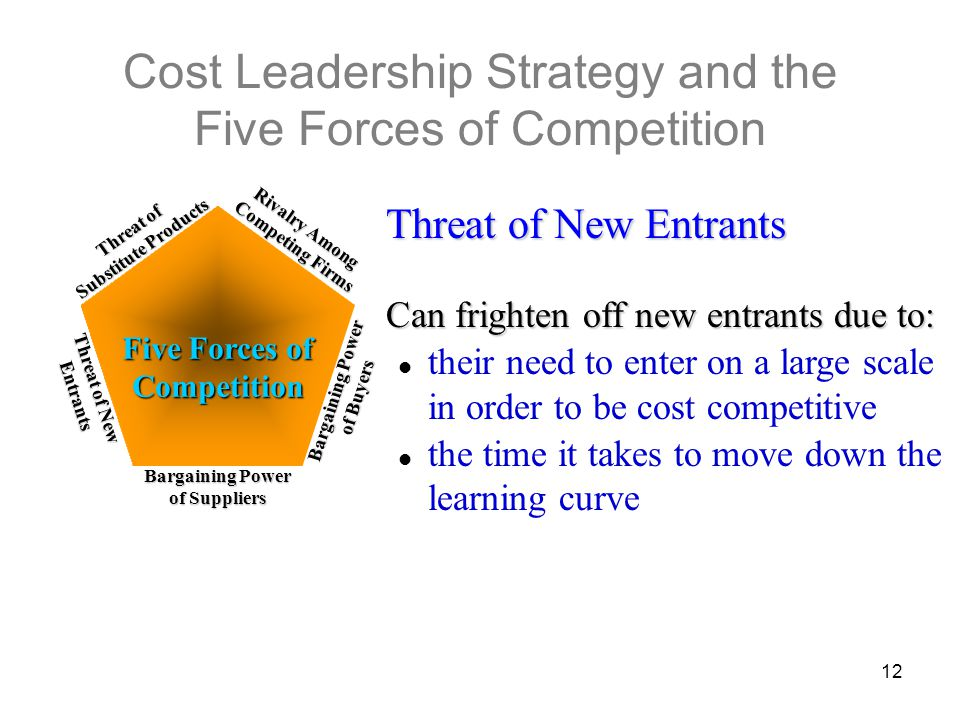 Cost Leadership Strategy and the Five Forces of Competition
