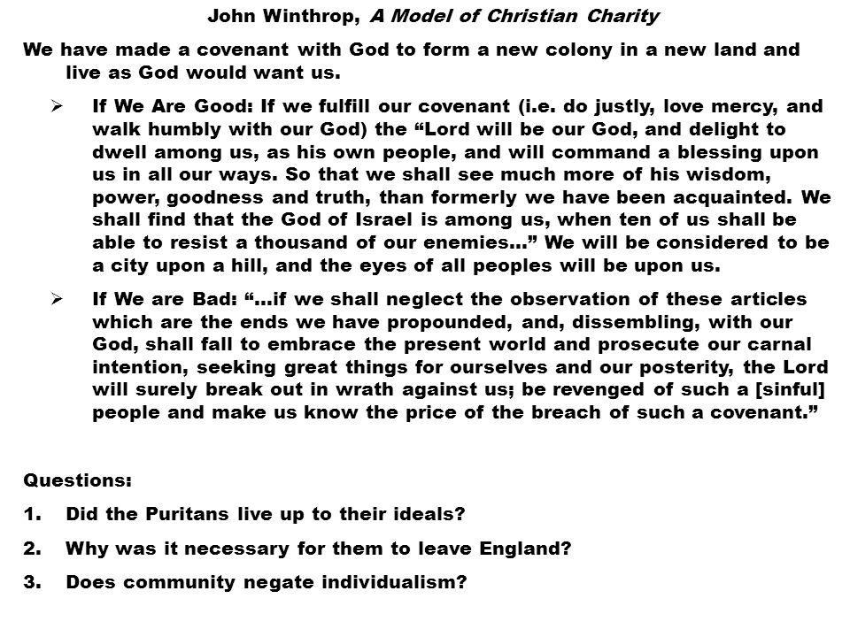 John Winthrop A Model Of Christian Charity